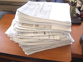 Pile of payment docs from City to SV Herald