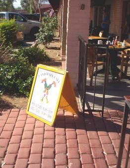 Landmark Plaza Cafe A-Frame