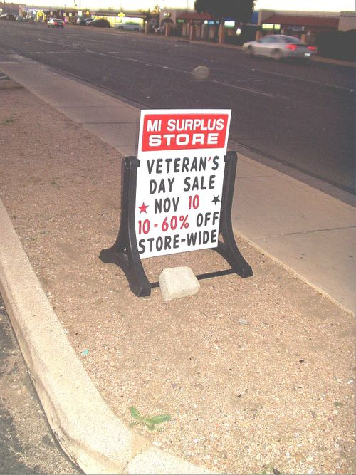 MI surplus store non-A-frame sign?