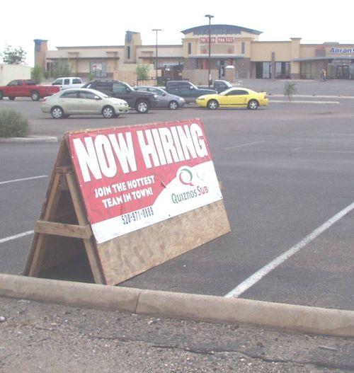 Quiznos Subs A-frame Sign - Sept 2007